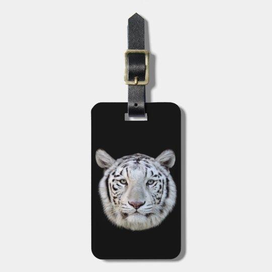 White tiger luggage tag