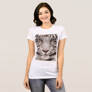 White Tiger Painting T-Shirt