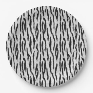 White Tiger Paper Plate