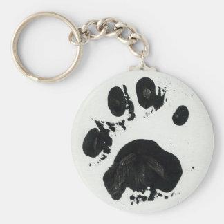 White Tiger Paw Print Keychain