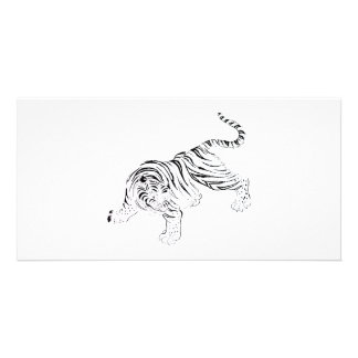 White Tiger Personalized Photo Card