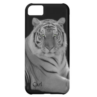 White Tiger Photograph iPhone 5 Phone Case