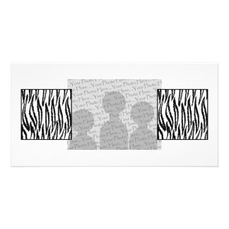 White Tiger Print. Tiger Pattern. Picture Card