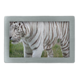 White Tiger Rectangular Belt Buckles