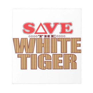 White Tiger Save Notepad