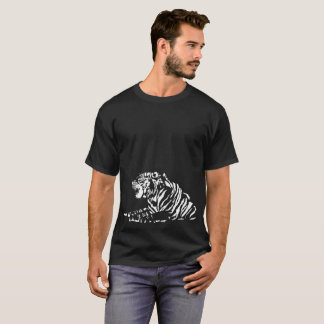 white tiger tribal T-Shirt