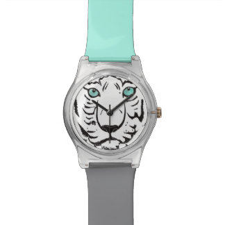 White Tiger Turquoise and Grey Wristwatch