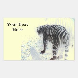 White Tiger wild animal Sticker