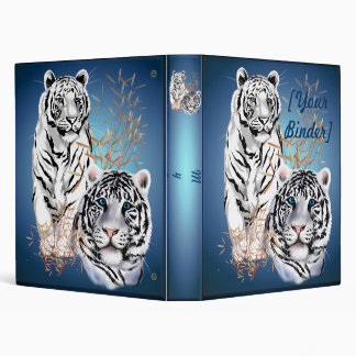 White Tigers  binder_1_back.v4 3 Ring Binder