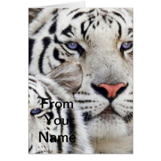 white tigers blue eyes card