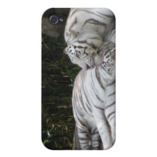 White Tigers iPhone 4 Case