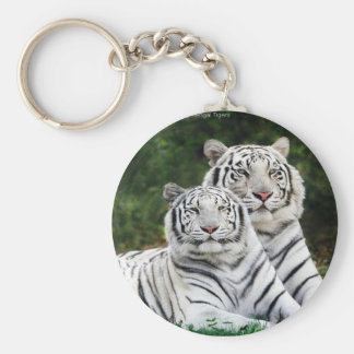 White Tigers Keychain