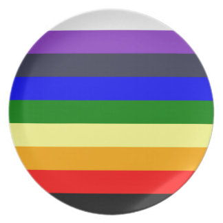 White To Black Rainbow of Color Spaces Dinner Plates