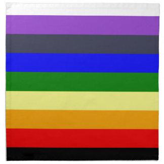 White To Black Rainbow of Color Spaces Napkins
