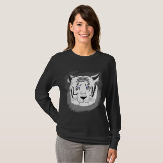 white to tiger long sleeve T-Shirt