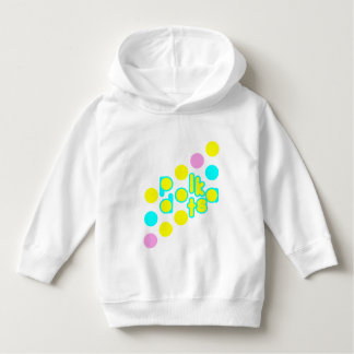 White Toddler Pull Over Hoodie w/ Polka Dot Design