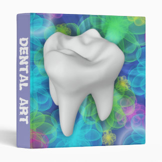White Tooth Design Dentist Office Supply 3 Ring Binders