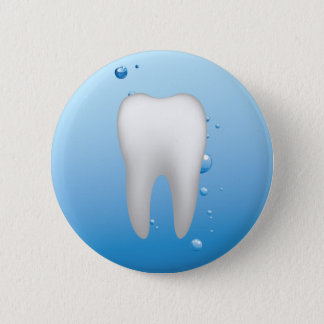 White Tooth & Water Dental Office Dentist 2 Inch Round Button