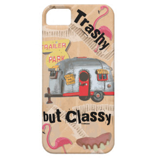 White Trailer Trash Cell Phone Case Cover