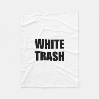 White Trash Fleece Blanket