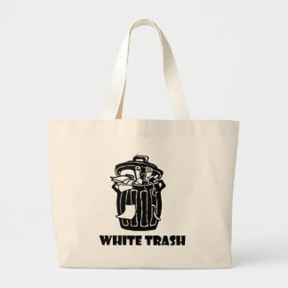 White Trash Garbage Can Tote Bags