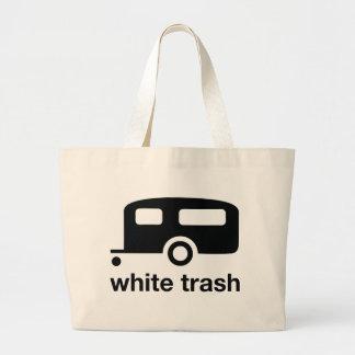 White Trash trailer icon - trailer park Jumbo Tote Bag