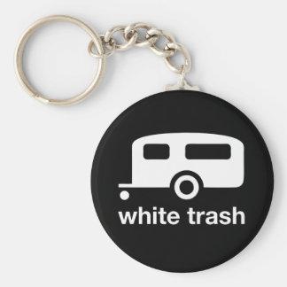 White Trash trailer icon - trailer park Basic Round Button Keychain