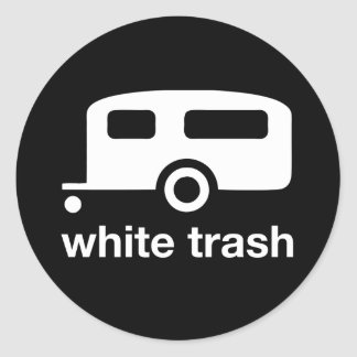 White Trash trailer icon - trailer park Stickers