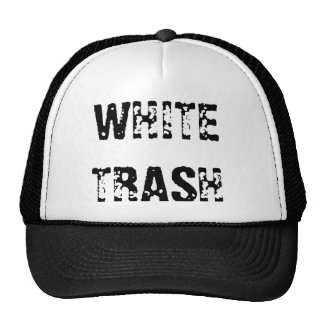 WHITE TRASH TRUCKER HAT