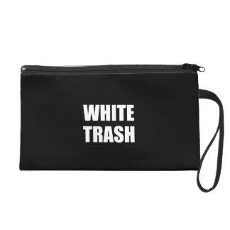 White Trash Wristlet Clutches