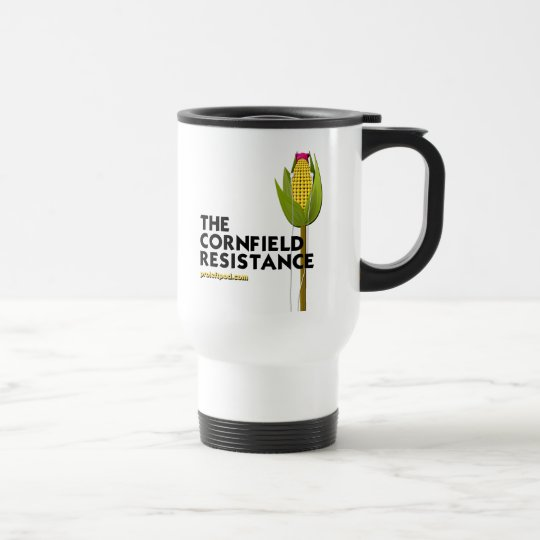 White Travel Mug - The Cornfield Resistance