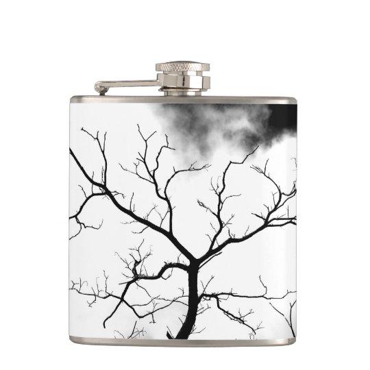 """White Tree"" JTG Art Flask"