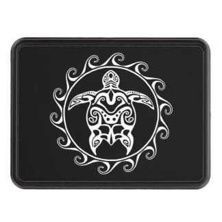 White Tribal Turtle Hitch Cover