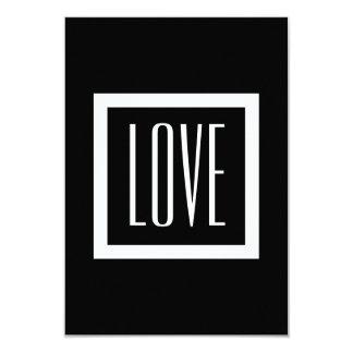 White Trim Love RSVP Wedding V77A Card