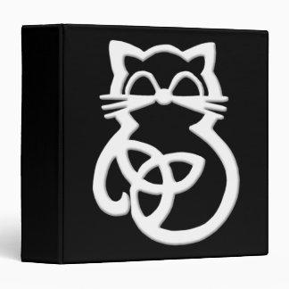 White Trinity Knot Celtic Cat Binder