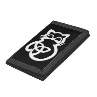 White Trinity Knot Celtic Cat Wallet