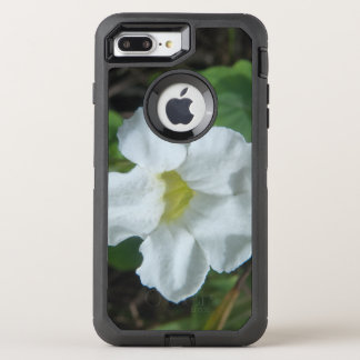 White Tropical Flower Found on Fiji OtterBox Defender iPhone 8 Plus/7 Plus Case