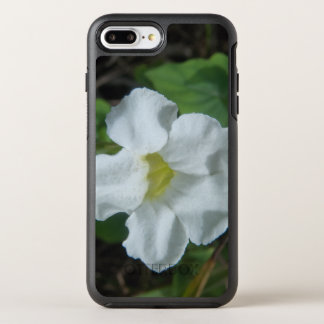 White Tropical Flower Found on Fiji OtterBox Symmetry iPhone 8 Plus/7 Plus Case