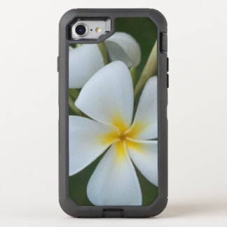 White Tropical Plumeria Flower From Fiji OtterBox Defender iPhone 8/7 Case