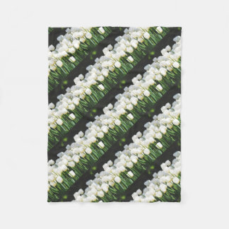 White Tulip Fleece Blanket
