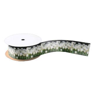 White Tulip Satin Ribbon