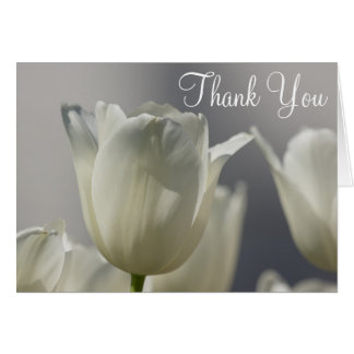 White Tulip Thank You Notes