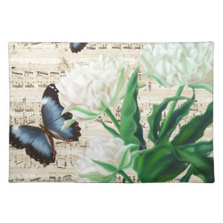 White Tulips Morpho Placemat