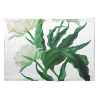 White Tulips Placemat