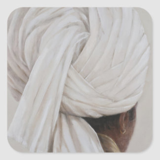 White Turban 2014 Square Sticker