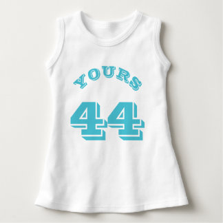White & Turquoise | Sports Jersey Design Dress