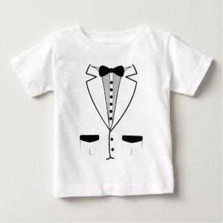 White Tuxedo Baby Shirt