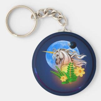 White Unicorn, Alien World Keychain