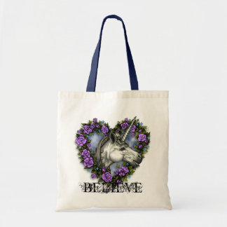 White Unicorn BELIEVE! Tote