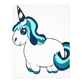 White Unicorn Cartoon Letterhead